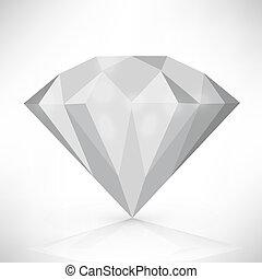 וקטור, יהלום, הפרד, דוגמה, white.