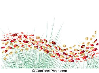 וקטור, לבבות, פרחים