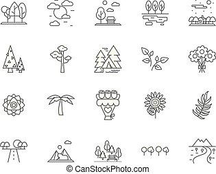 וקטור, מושג, תאר, קבע, איקונים, דוגמה, צמחייה, פאונה, סימנים, קו