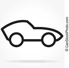 וקטור, מכונית, ספורט, ציור היתולי, תאר
