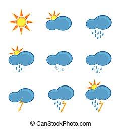 וקטור, נבא, מזג אויר, דוגמה, איקונים