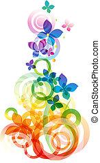 וקטור, פרחים, רקע