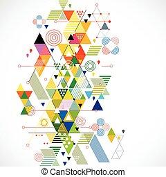 וקטור, צבעוני, תקציר, דוגמה, יצירתי, רקע, גיאומטרי