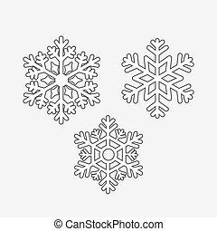 וקטור, קבע, פתיתות שלג