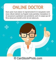 וקטור, רופא, דוגמה, אונליין