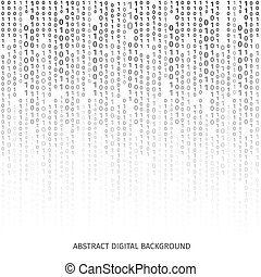 וקטור, רקע שחור, הצפן, בינארי, לבן, סיפרות, screen., דוגמה