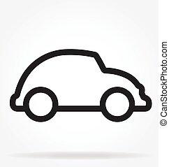 וקטור, תאר, מכונית, ציור היתולי