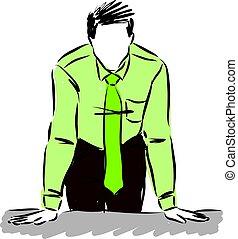 וקטור, illustration., איש של עסק