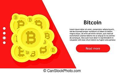 וקטור, transfer., אפליקציה, חתום, מחשב, crypto, bitcoin, conceptual., דיגיטלי, כלכלה, banking., עסק, החלף, סמל, אינטרנט, כספי, btc., רקע, blockchain., טבע, דגל, סחר, פדה, גידול