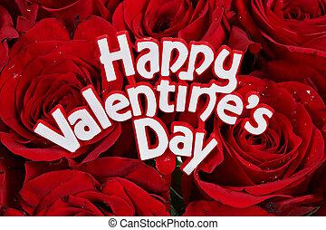 ורדים, יום של ולנטיינים, שמח