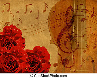 ורדים, מוסיקה, רקע, כינור