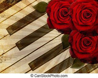 ורדים, מוסיקה, רקע