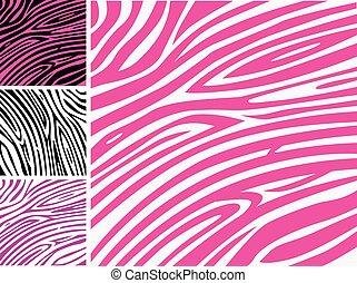 ורוד, תבנית, zebra, עור של בעל החיים מדפיס