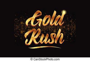 זהב, התנצנץ, טקסט, מהר, מילה