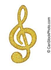 זהב, g-clef, לבן