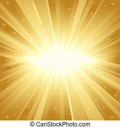 זהוב, אור, כוכבים, התפוצץ