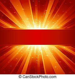 זהוב, כופיספאך, התפוצץ, אור, כוכבים, אדום