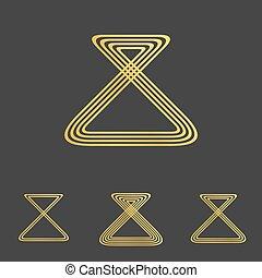 זהוב, סידרה מעצבת, לוגו, קו, ענוב