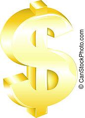 זהוב, סימן של דולר