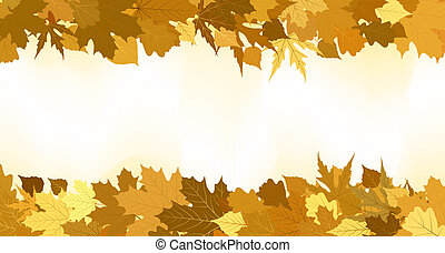 זהוב, עשה, leaves., הכנסה לכל מניה, סתו, 8, גבול