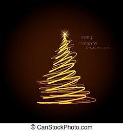 זהוב, תקציר, editable, עץ, קל, חג המולד