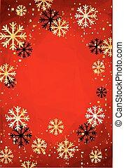 זהוב, illustration., snowflakes., תקציר, מודרני, editable, רקע, template., וקטור, קל, שנה, חדש, או, חג המולד