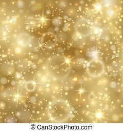 זהוב, twinkly, כוכבים, רקע, אורות