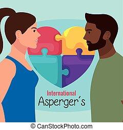 זוג בין גזעי, aspergers