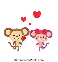 זוג, קוף, דוגמה