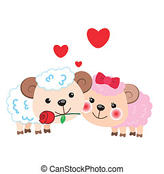 זוג, sheep, דוגמה