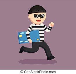 זכה, איש, גנב, כרטיס, לגנוב