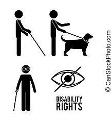 זכויות, עצב, נכות