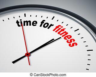 זמן, כושר גופני