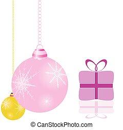 חבילות, וקטור, עץ, קישוטים של חג ההמולד