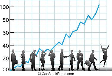 חברה, טבלה של גידול, צוות של עסק