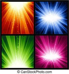חג המולד, התפוצצויות, חגיגי, כוכבים, אור, שנים, חדש