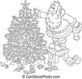 חג המולד, לקשט, כלאאס, סנטה
