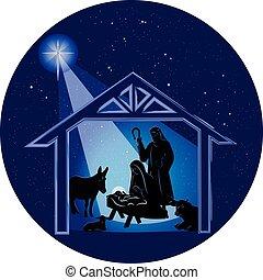 חג המולד, קטע של לילה, לידה