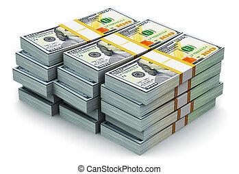 חדש, 100, דולר, ערימות, אותנו