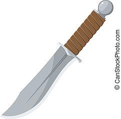חד, וקטור, סכין, דוגמה