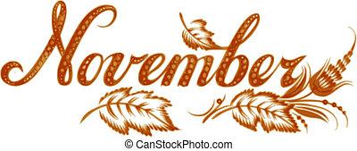 חודש, נובמבר, קרא