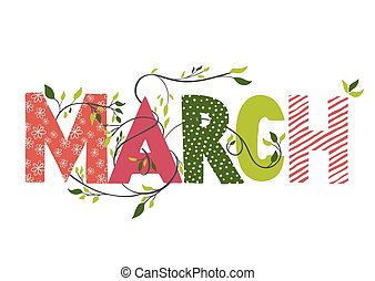 חודש, name., צעד