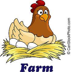 חוה, ביצים, סמל, תרנגולת, לשבת