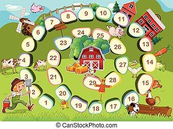 חוה, לוח של משחק