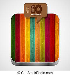 חום, eps10, צבעוני, מעץ, אפליקציה, וקטור, איקון, בעבע, speech.