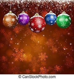 חופשה, דש, חג המולד, כרטיס, אדום