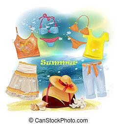 חופשות, אוסף, בגדים של קיץ