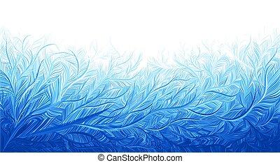 חורף, דוגמה, קיפאון, כחול, רקע., וקטור, קרח, חג המולד