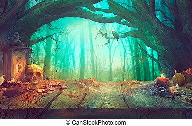 חושך, מפחיד, הלוווין, forest., תימה, דלועים
