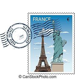 חותמת דואר, צרפת